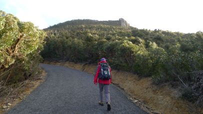 Starting the climb up Mt Oberon
