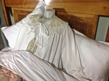 Original lace used for Aunt Prudence's nightie