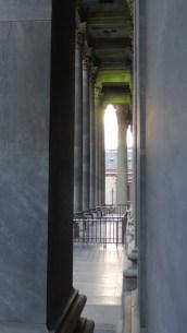 Evening light through the columns at Parliament House