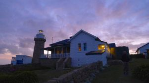 Sunset colours the clouds at Wilsons Promontory Lightstation