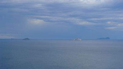 Forty Foot Rock and Mancoeur Islands (I think) - just some of the more obvious reasons for the lighthouse