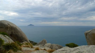Looking out to Rodondo Island, which falls under Tasmania's jurisdiction