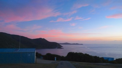 Eastern bay and north coast line in the early morning