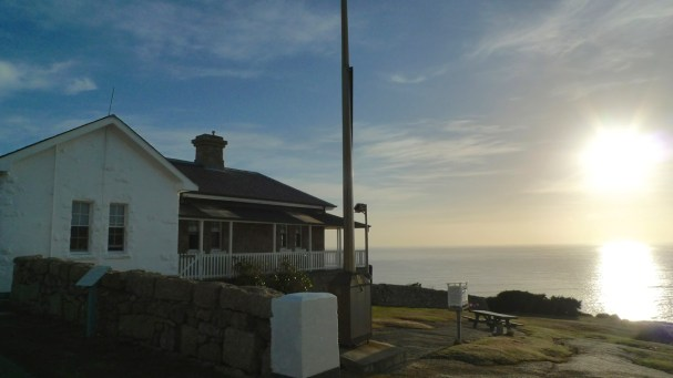 Sun rising for another beautiful day at Wilsons Promontory National Park Lightstation