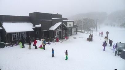 The Village Restaurant from the Ski Hire Shop veranda