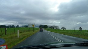 Road to Mt Baw Baw - Passing farmers fixing fences