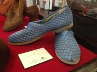 Jean - Blue satin 'Bata' slippers