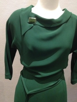 Jean - Close-up of bodice on green evening dress