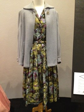 Jean - Dove grey textured wool swing short coat & 'Atomic' dress with belt