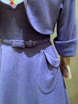 Joy McDonald - Belt, pocket & cuff detail of 2 piece dress suit