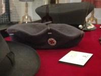 Mattie - Grey felt 'Gregory Lander' beret with nurses [Ballarat District Nursing Society] badge