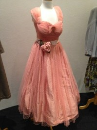 Mattie - Pale hale spot tulle evening dress, cotton lawn & tulle petticoat to be worn with evening dress