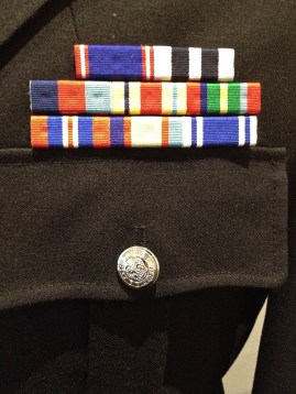 Ribbons on Lawson's uniform