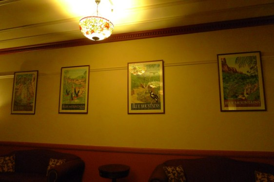 More Blue Mountains tourism posters on display in the Carrington Hotel