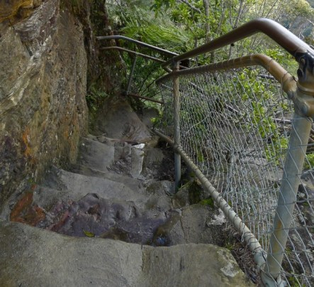 The stone steps are showing a bit of wear