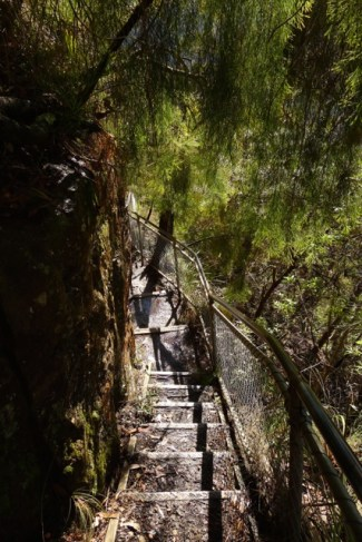 It's not precipitous the whole way down the Giant Stairway
