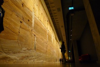 Although patched and bolted together, it's still a marvelous sandstone wall
