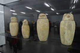 Egyptian artefacts - four Canopic jars