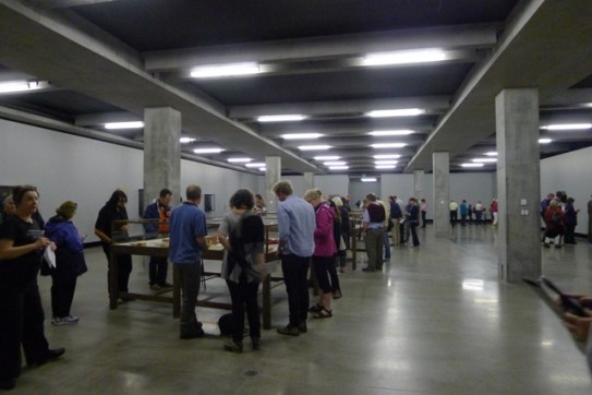This space felt like an underground carkpark with a few temporary walls and art laid out