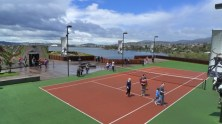 Why a tennis court? Why not?