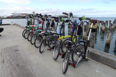 A line-up at Station Pier