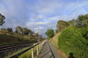 Heading towards Flemington Bridge Station