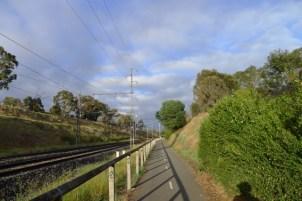 Heading towards Flemington Bridge Station