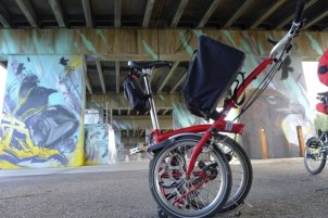 Your Brompton gives wings to your feet - appropriate that birds are a popular theme under the Graham St overpass