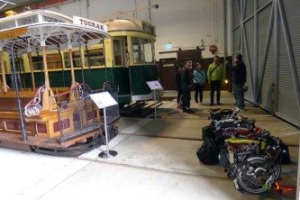 Learning about the trams and cable tram at the Melbourne Tram Museum
