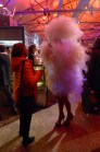 One of the two 'clouds' with sparkling red shoes and stockings in the crowd on the last night