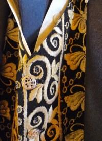 Detail of Dr Mac's waistcoat