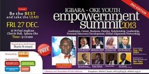 Igbara-oke Youth Empowerment Summit 2013 is here!