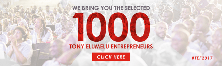 List of 1000 Winners of Tony Elumelu Foundation 2017 $5000 Grant is Here!