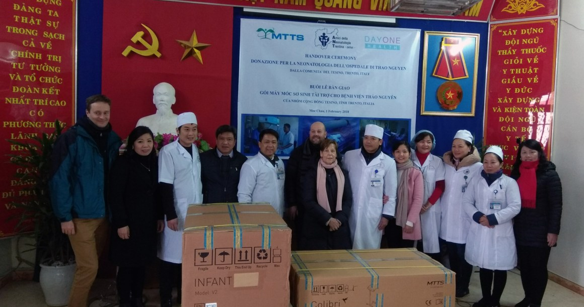 Donations to rural hospital in North Vietnam