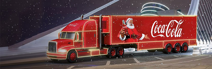 Holidays are Coming - Coca Cola Christmas Truck Tour