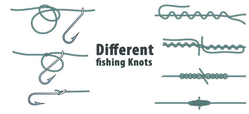 Different fishing Knots