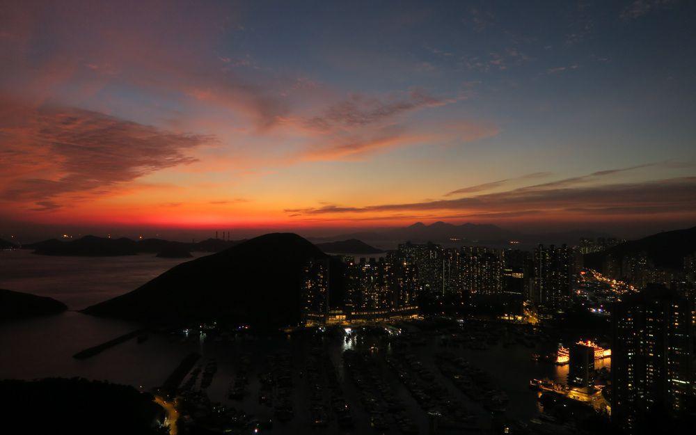 南朗山的日落