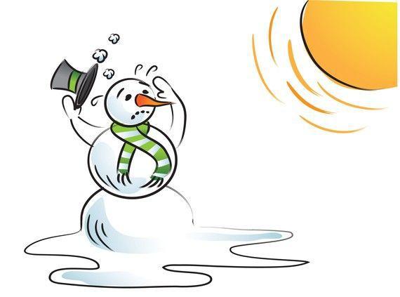 雪人熱溶了