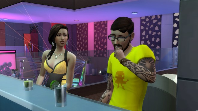 Andre DaSilva gets embarrassed after messing up a pickup line with Jade Rosa at Discotheque Pan Europa.