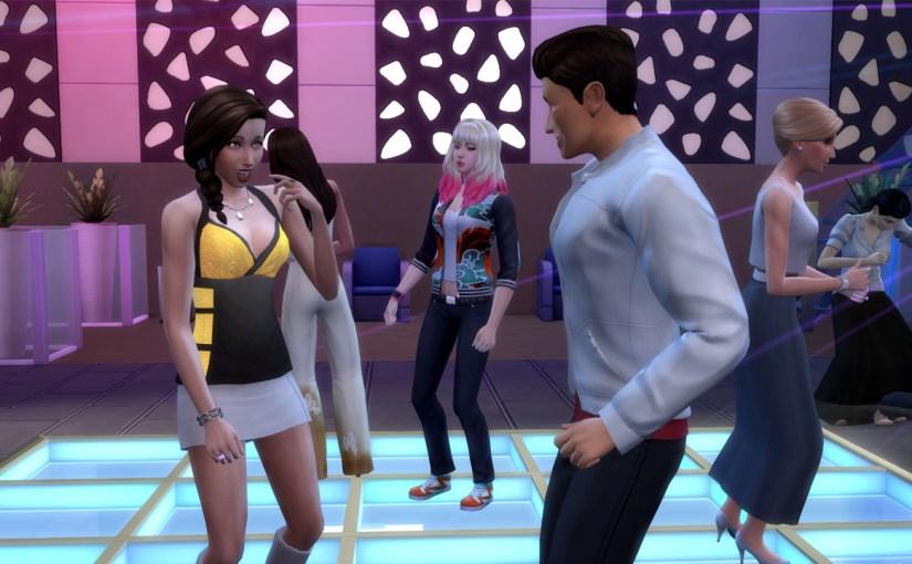 J Huntington III flirts with Jade Rosa on the dance floor of Discotheque Pan Europa.