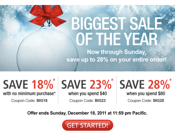 Biggest saving for 28% ,Domain.com christmas coupon