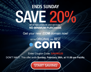 domain.com 20% off coupon
