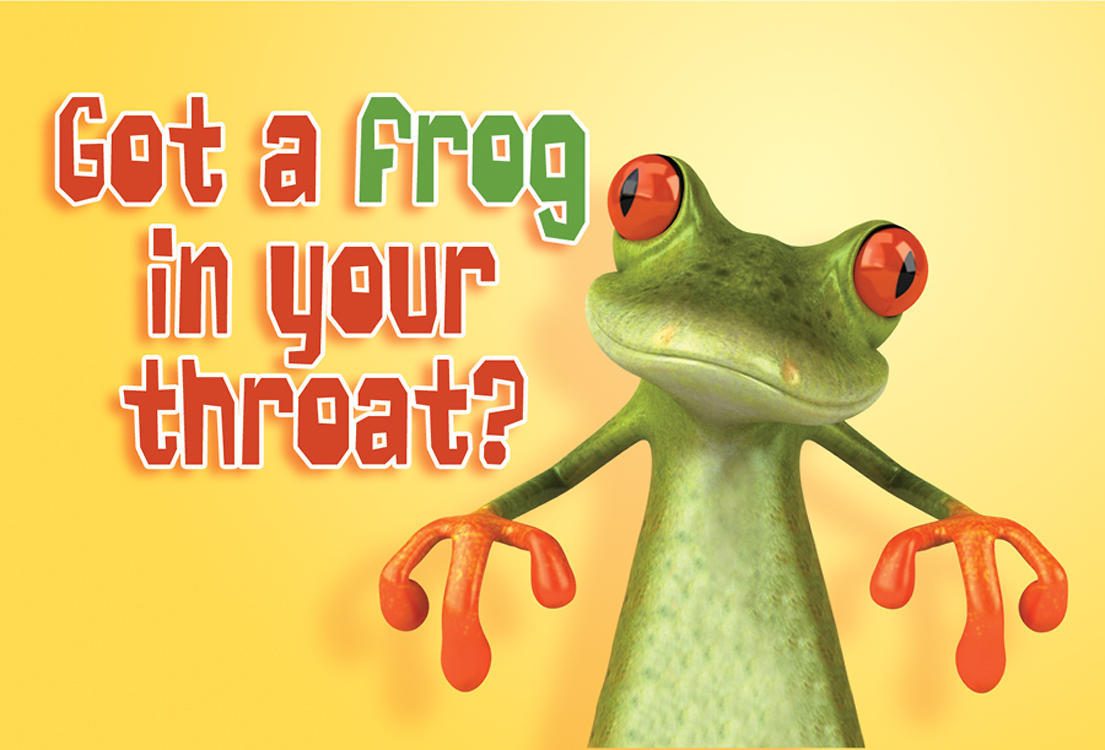 Image result for pics of frog in throat