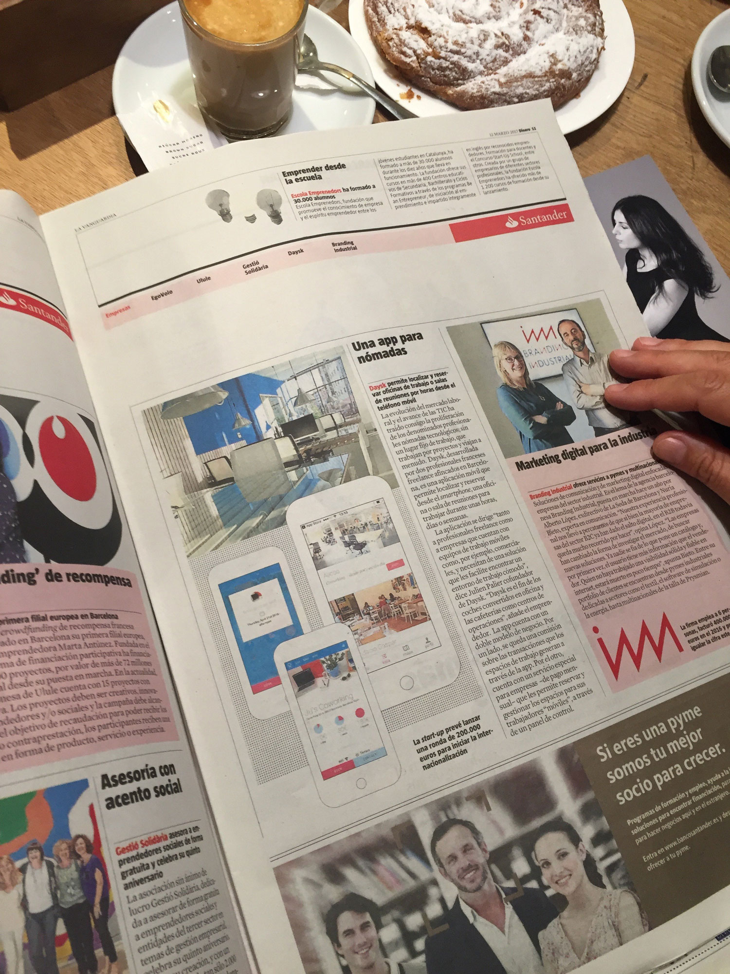 Daysk featured in La Vanguardia