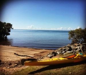 kayak near the beach