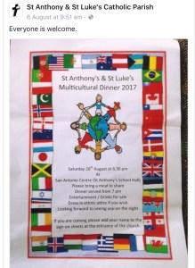 multicultural dinner invitation