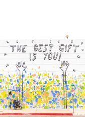 The best gift is you sign on a wall