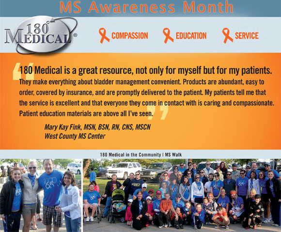 Multiple Sclerosis (MS) Education & Awareness Month - 180 Medical