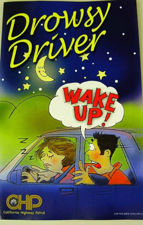 Drowsy Driver Awareness Day - CHP Brochure in English