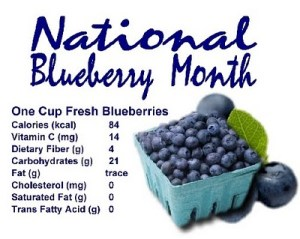 National Blueberries Month - what are the WAXX words for today?